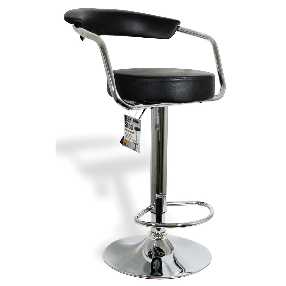 adjustable bar stool with backrest and armrests adjustable bar stool with backrest - buffalo height-adjustable bar stool OHFMWAJ