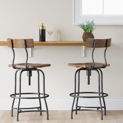 adjustable bar stool Woodsboro adjustable bar stool - Threshold ™: target JIZQIFG