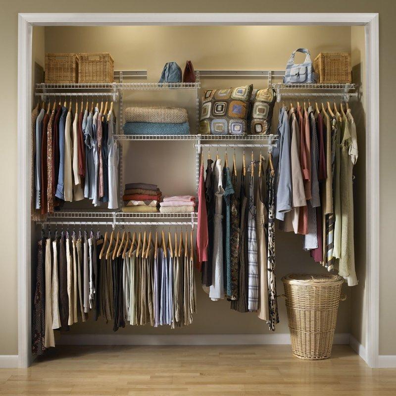 adjustable clothes storage system 152cm - 244cm wide LVWTDYZ