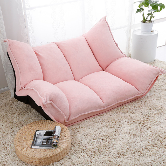 adjustable fabric folding chaise longue sofa chair floor couch living room TQODTHY