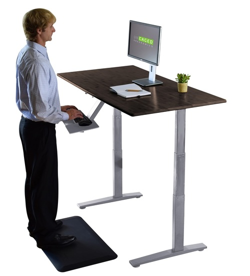 adjustable standing desk riser up bamboo electric standing desk YPAIWLP