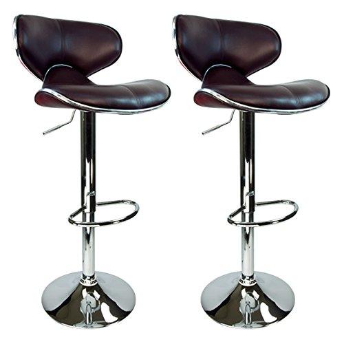 adjustable swivel bar stool with back amazon.com: apontus pu-leather swivel hydraulic bar stool with back cushions, ORJHHJM