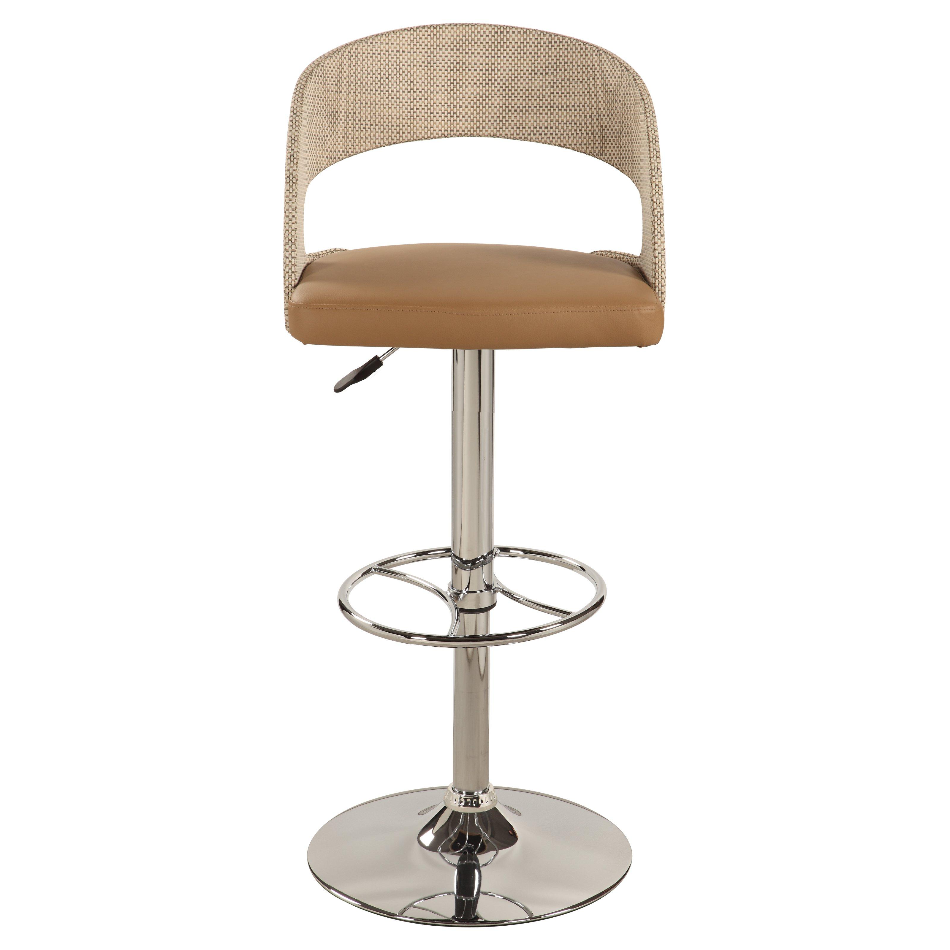 adjustable swivel bar stool with back chintaly aerona adjustable swivel bar stool with round back |  Hay needle LVHAZBB