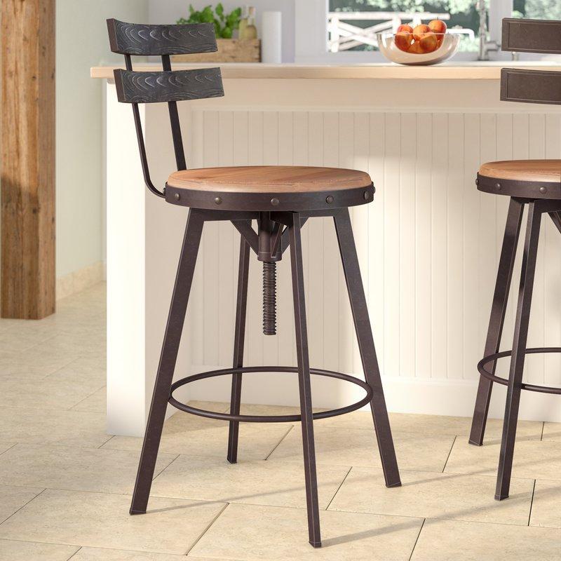 adjustable swivel bar stool with backrest henley adjustable swivel bar stool VZBDAEC