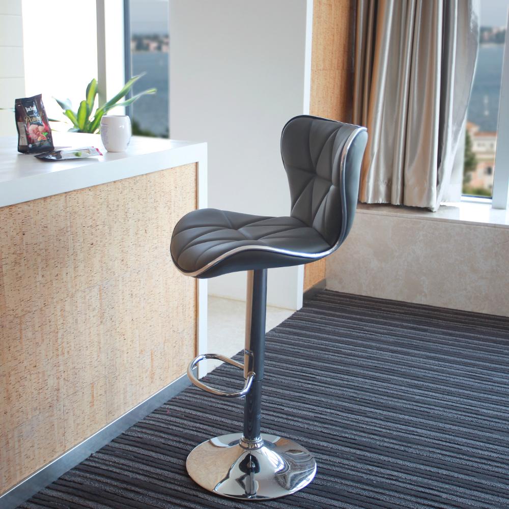 adjustable swivel bar stool with back Leopard Outdoor Shell back adjustable bar stool, set of 2, gray / bu003e QPYYVFG
