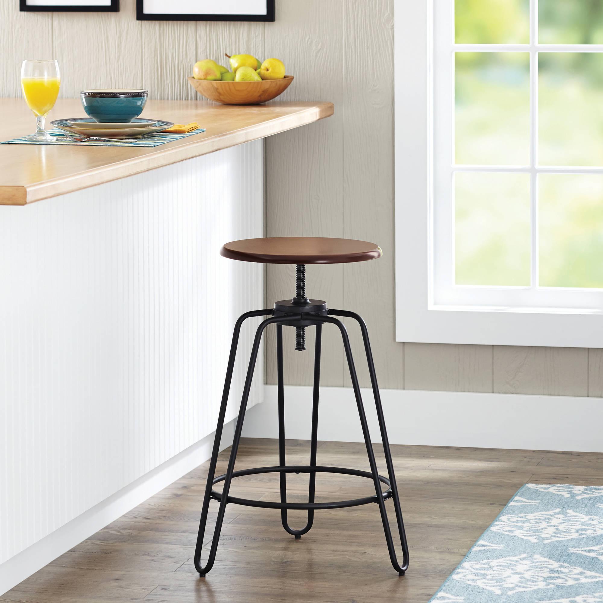 adjustable swivel bar stool with backrests height-adjustable swivel bar stool, hammered bronze, set of 3 - HCMATNP