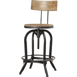 adjustable swivel bar stool with back oria height-adjustable swivel bar stool RCGPVZR