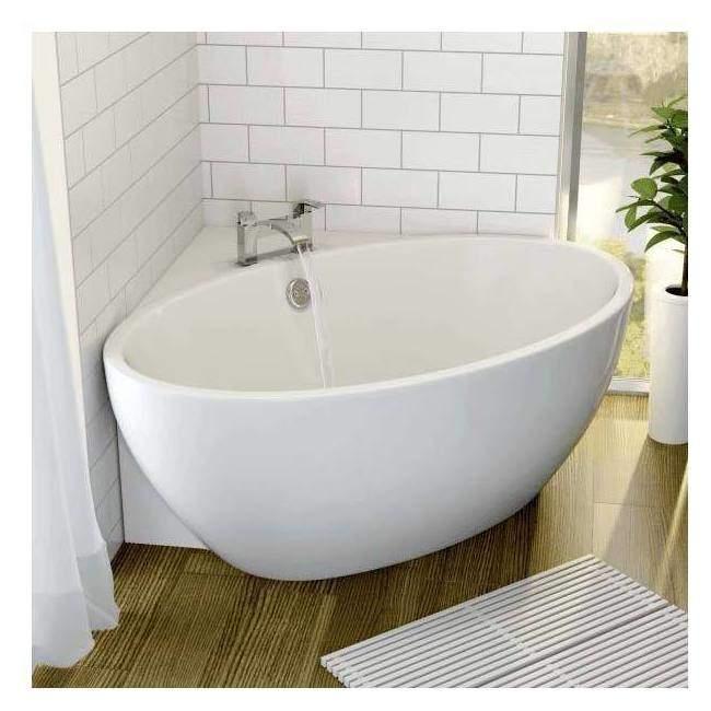 affine fontaine corner bath 1510mm x 935mm with integrated drain BJCHNNL