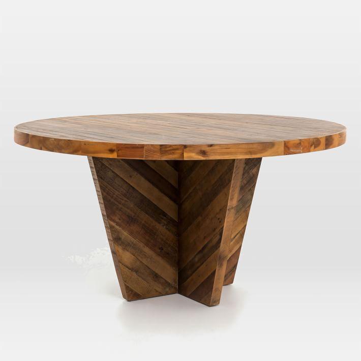 alexa round dining table    West Elm YHEGENU