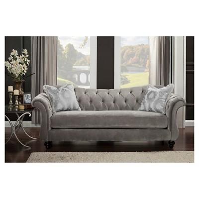 Alexandria Victorian Gray Sofa - Furniture of America CDBRIYQ