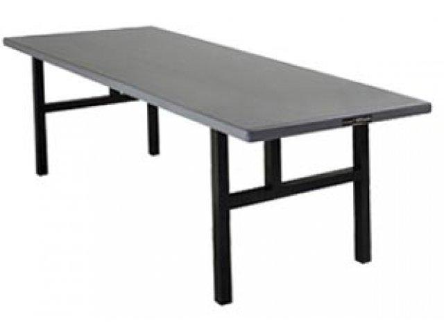 Rectangular folding aluminum table - h legs EZHZLKA