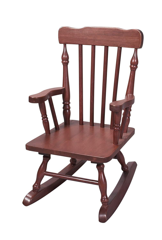 amazon.com: gift mark childu0027s colonial rocking chair, cherry: kitchen & dining room MJLGRXA