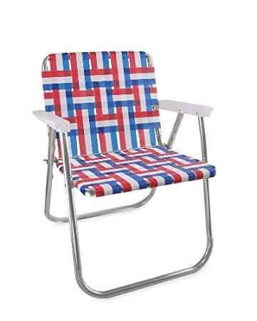 amazon.com: Garden chair USA aluminum loom (picnic chair, old glory GPHZVBZ