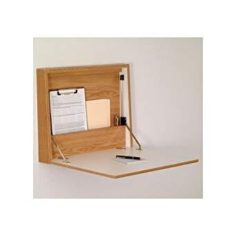 amazon.com: mallet wall desk / laptop workstation, oak: home & kitchen UJJWNQH