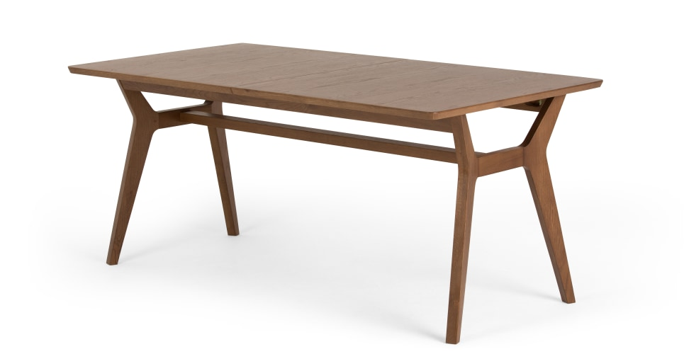 an extendable dining table, dark stained oak, designed by tim fenby YPUKMEO