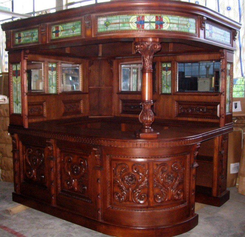 antique covered english stall corner l home bar furniture pub NEHVKBP
