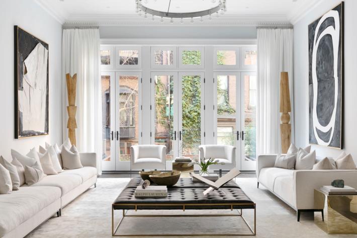 apartment furniture in one of cheryl eisenu0027's white-on-white staged apartments.  Photo: donna dotan photography EUWRYJL