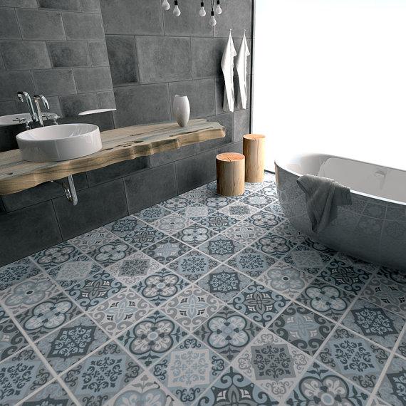 attractive bathroom tile floor tile decals flooring vinyl floor bathroom IUFPJGQ