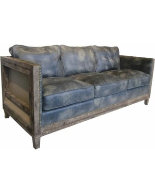 aurelle home monarchy rustic leather sofa in used look (light brown sofa) DXAWYPZ
