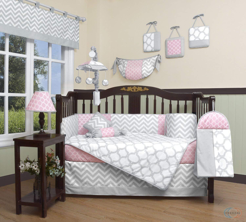 Baby bedding sets amazon.com: geenny boutique baby 13-piece children's bedding set, salmon PUXTKIP