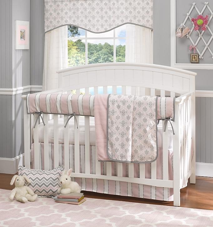Baby bedding sets Bella Pink 4-piece cot bedding set ZXOIBZG
