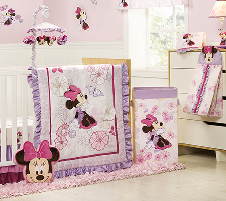 Baby bedding sets Minnie Mouse Butterfly Dreams 4-piece cot bedding set ZYXMTGZ
