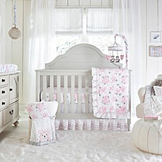 Baby bedding sets wendy bellissimo ™ Savannah crib bedding collection in white / pink PPWILBV