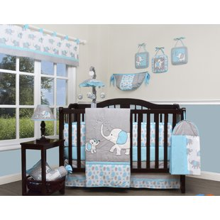 Baby furniture snow storm elephant 13-piece cot bedding set KOSCIMR