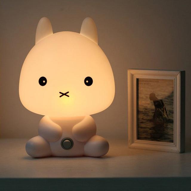 Baby night light new baby room rabbit / bear / panda / dog cartoon animal night light warm lamp JODBPKA