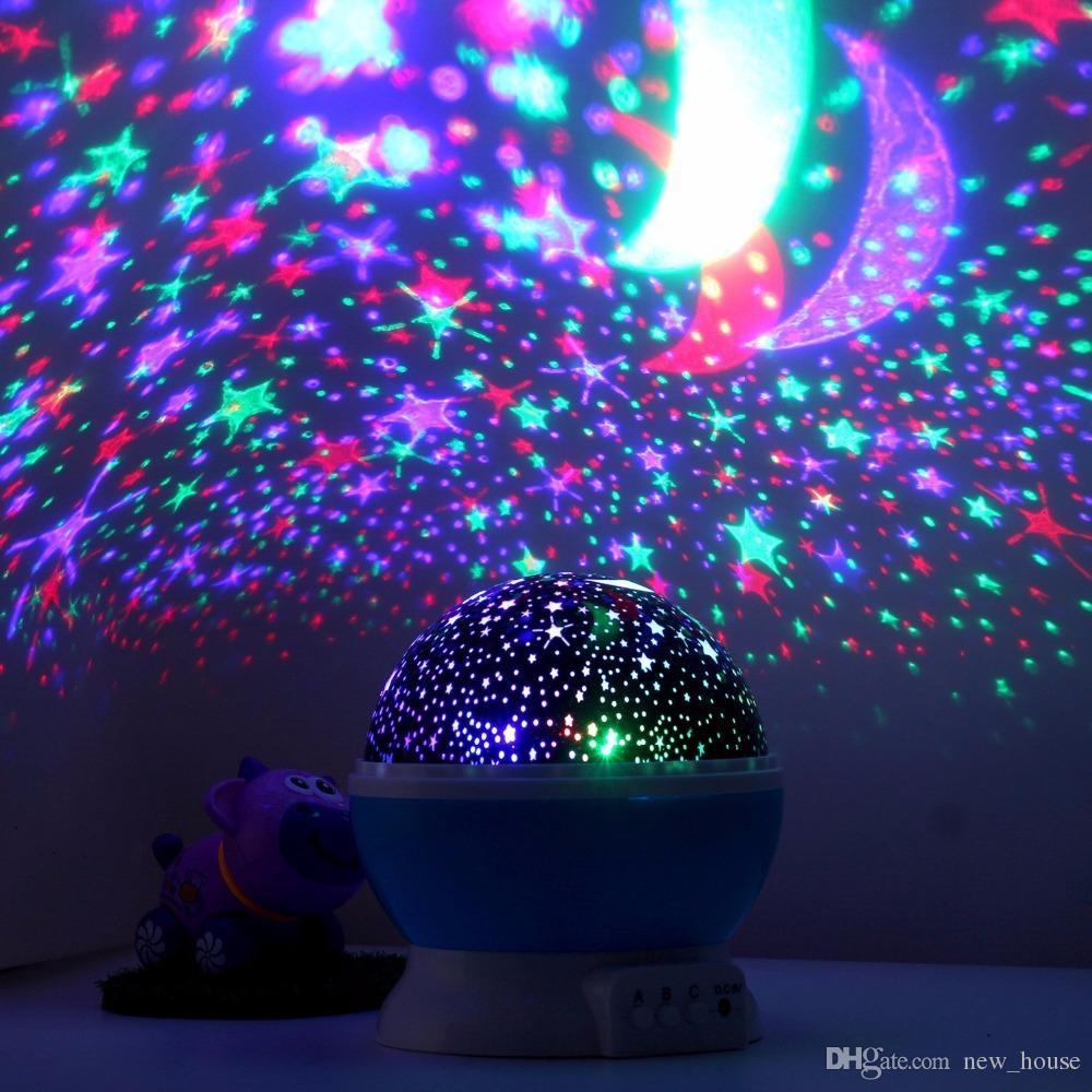 Baby night light projector with music 2018 holigoo romantic rotating spin night light projector celestial star moon ESYXNXEX