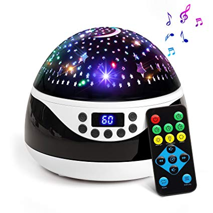 Baby night light projector with music 2018 newest baby night light, ananbros remote control star projector with PCJGUST