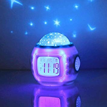 Baby night light projector with music Children's room Himmelsstern Night light projector Alarm clock with sleep music POUTXPD