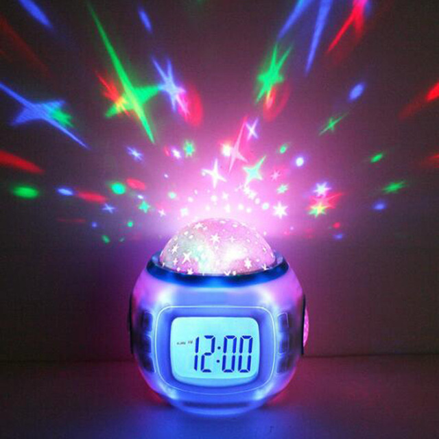 baby night light projector with music sky star children baby room night light projector lamp bedroom musical arm NORXHXT