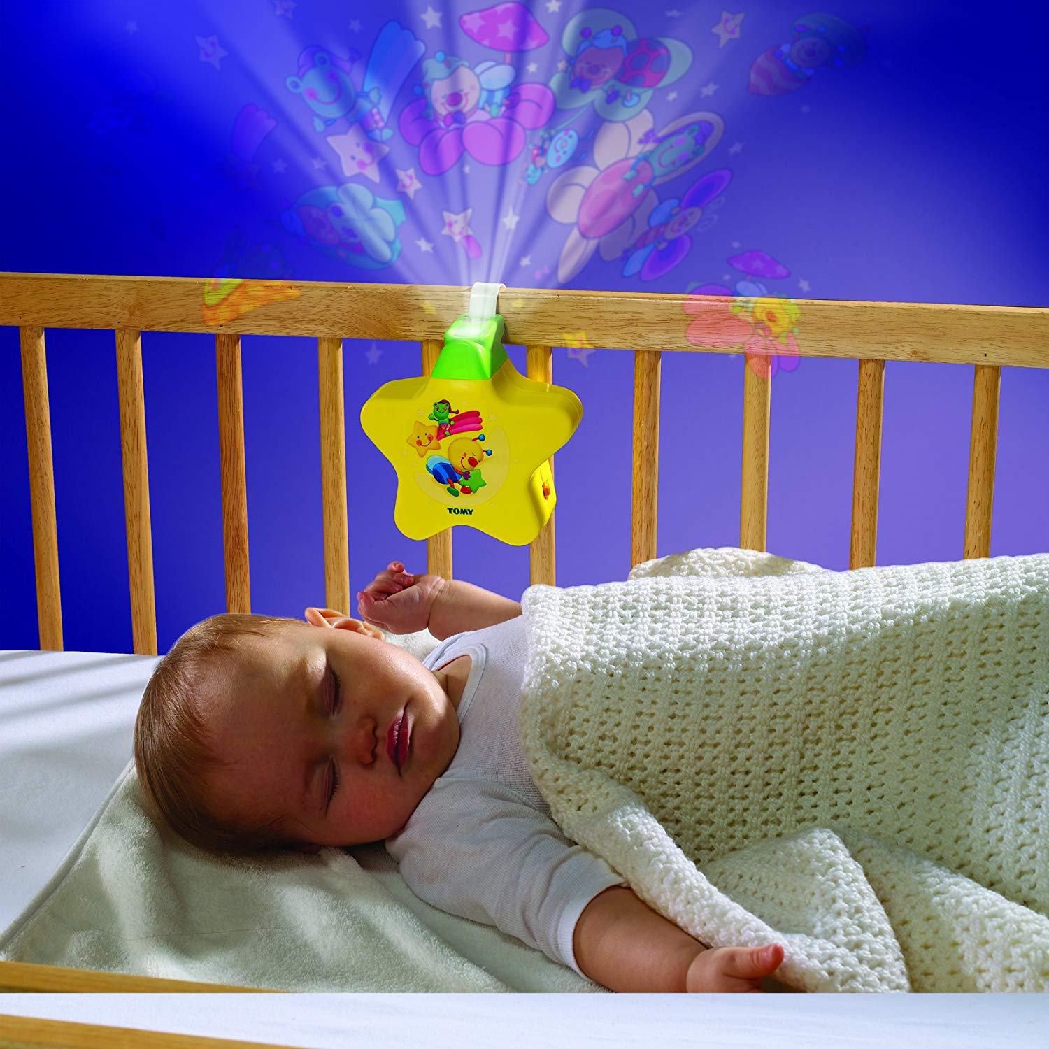 Baby night light projector with music Tomy First Years Starlight Dream Show Yellow - lights and sounds night light MLJSUOR