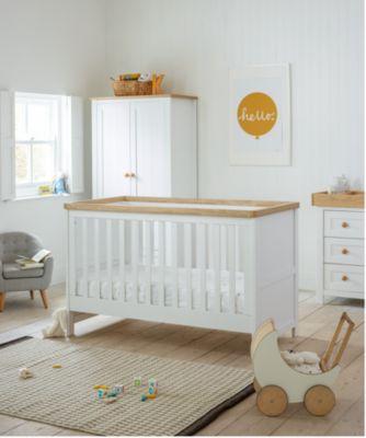 Baby nursery sets mothercare lulworth 3-piece nursery set - classic white XLSWUUG