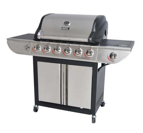 Garden grill 6-burner propane gas grill with side burner |  Walmart Canada DRIQYTT