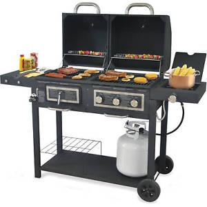 Backyard Grill Image is loading Backyard Grill-Dual-Gas-Charcoal-Grill-Burner-BBQ- PKCGUZQ