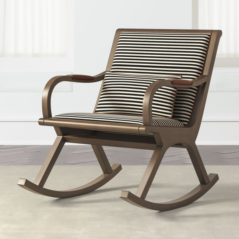 bakersfield black and white rocking chair + reviews |  Box and barrel JNRHTOM