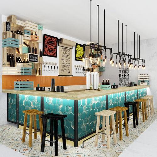 Bar counter Loft 3D model HZDFZRS