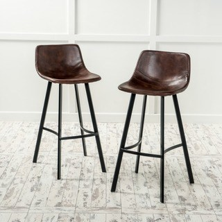 Bar stool with backrest dax 30-inch bar stool made of synthetic leather with snakeskin pattern (set of 2) by AAYLBCA