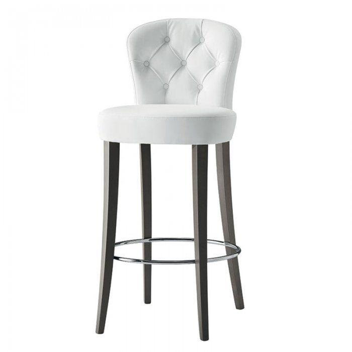 Bar stool with backrest Euforia bar stool - Button Back - bar stool by Hill Cross QWSFONS