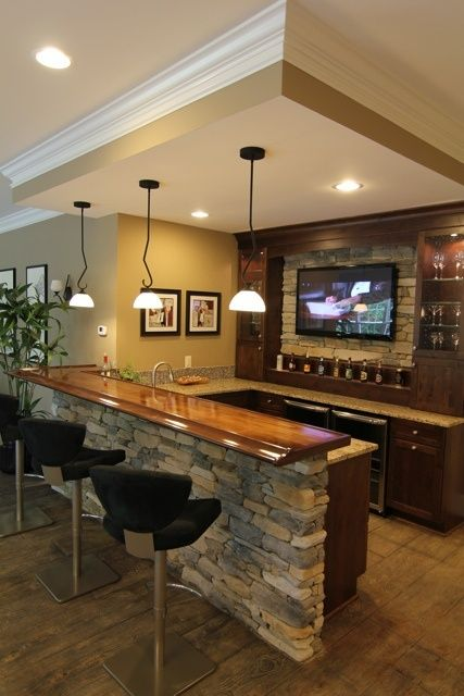 Basement Bar - Click the image to find more home decor pinterest pins YVOGDCZ