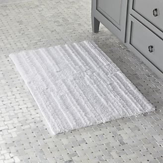 Bath rug Crosley White reversible bath rug JYAGSBY