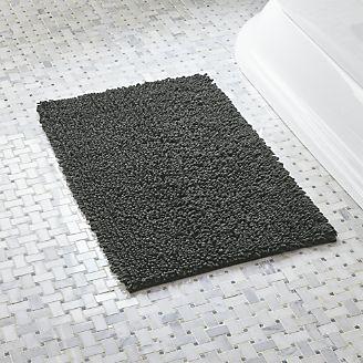 Bathroom rugs Loop Graphite bathroom rugs QNIJPDI