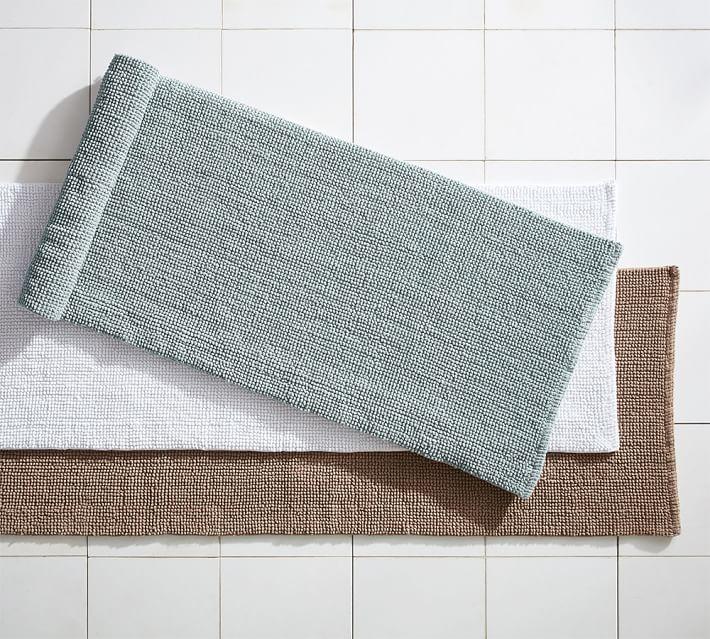 Bath rugs structured organic bath rugs - double wide |  Pottery barn PUMJUMD