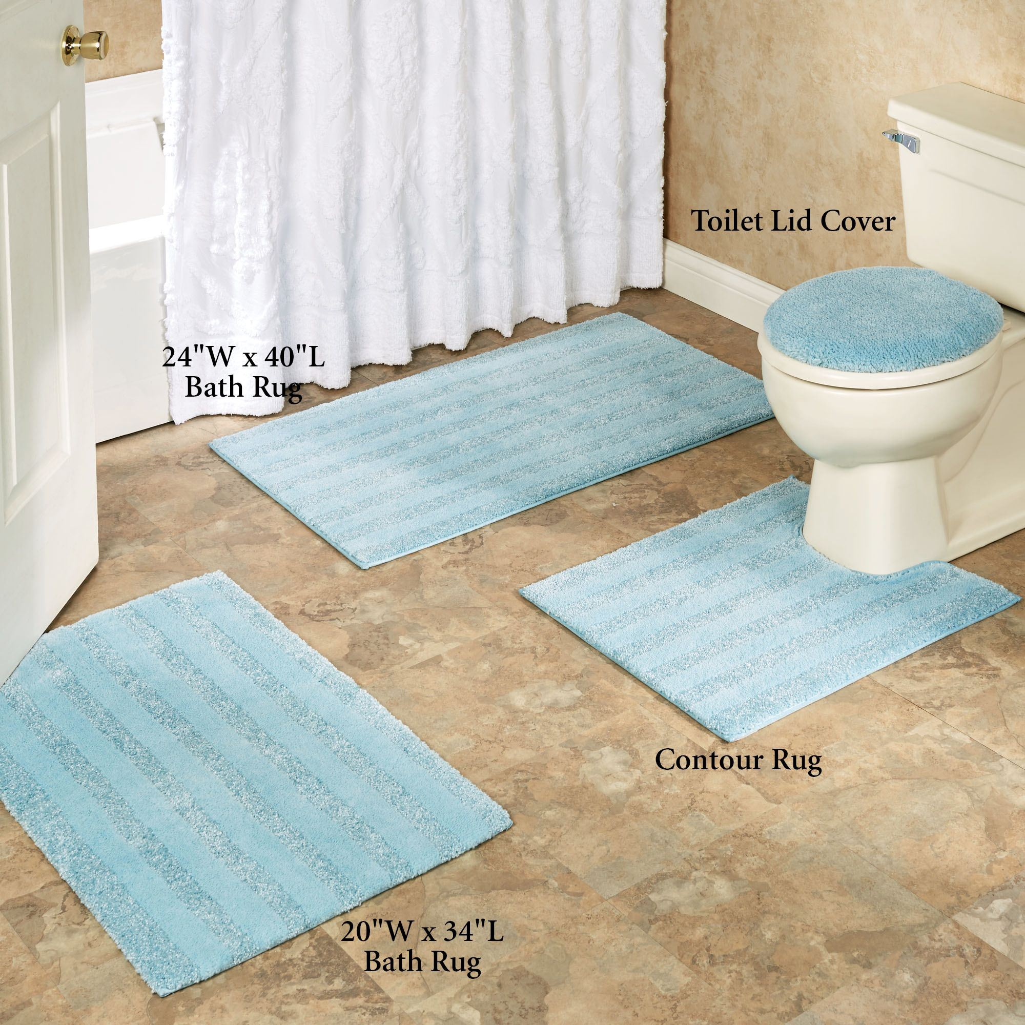 To enlarge the bathroom rugs, touch HVBUANG