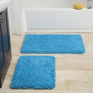 Bathroom rugs windsor home 2-piece memory foam shag bath mat ODGDZBD