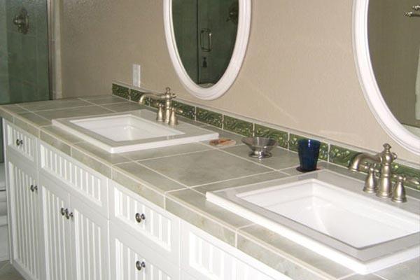 Bathroom Countertops Tile Bathroom Countertops (4) NEJGWSL