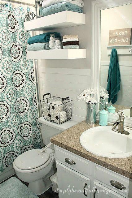 Bathroom decor simply beautiful by angela: bathroom makeover on a small budget JNKBIAV