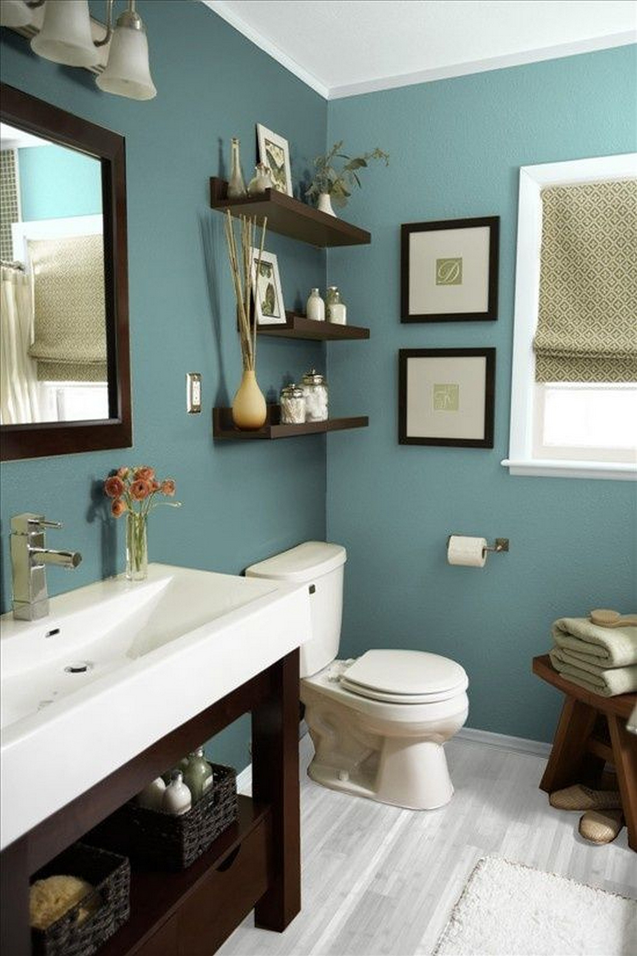 Bath decors 13. Chic and soothing blue design theme MMEXBZR